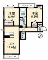 ローレルTAKU 203間取り図