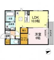 (仮)D-room住吉II 101間取り図