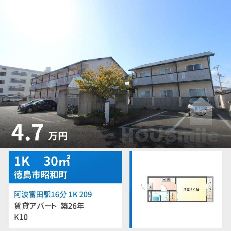 阿波富田駅16分 1K 209
