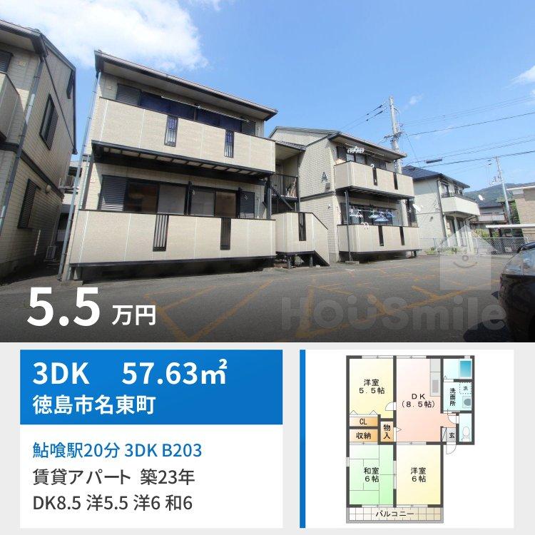 鮎喰駅20分 3DK B203