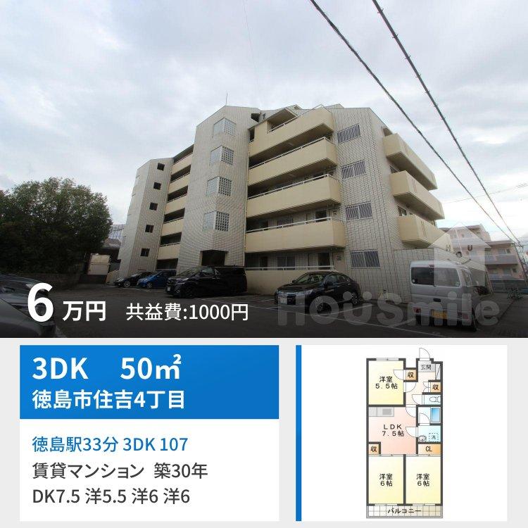 徳島駅33分 3DK 107