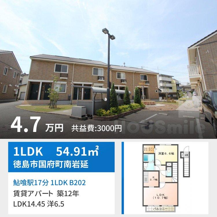鮎喰駅17分 1LDK B202