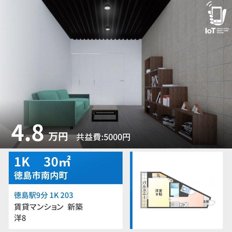 徳島駅9分 1K 203