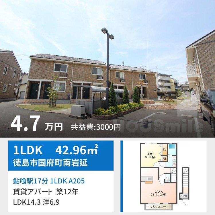 鮎喰駅17分 1LDK A205