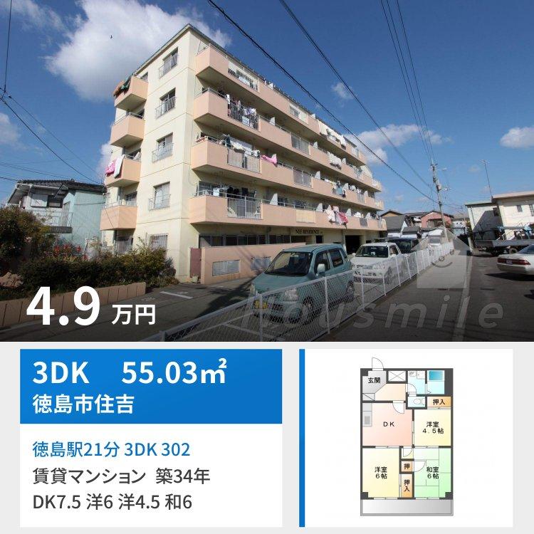 徳島駅21分 3DK 302
