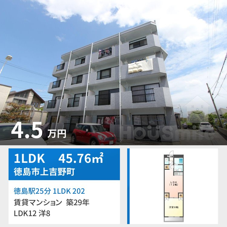 徳島駅25分 1LDK 202
