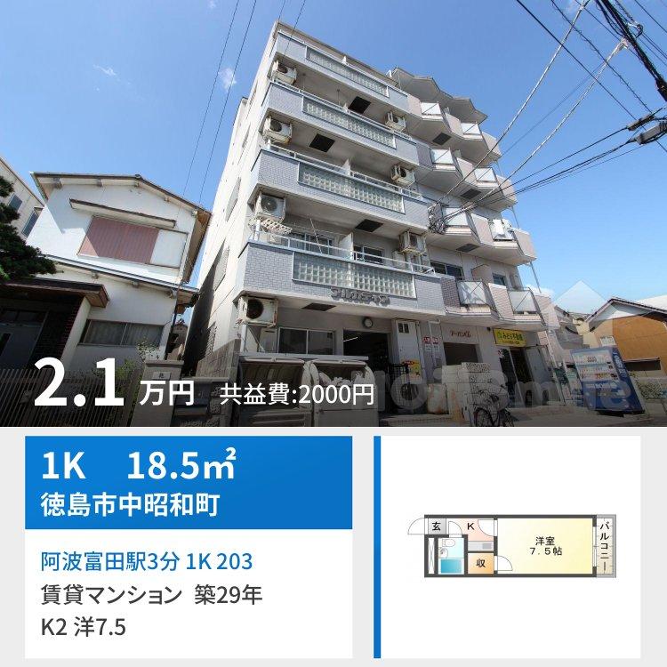阿波富田駅3分 1K 203