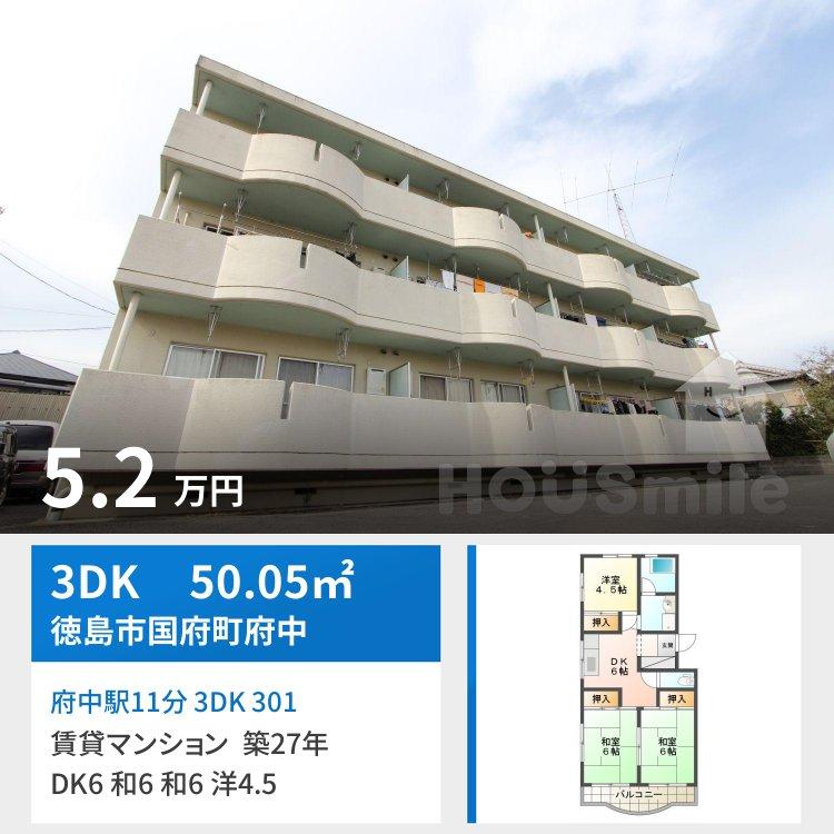 府中駅11分 3DK 301