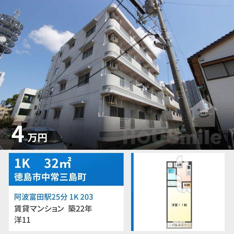 阿波富田駅25分 1K 203